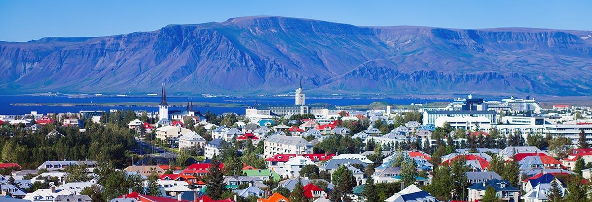 Reykjavik - huvudstad på Island